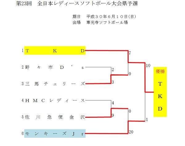 全日本レディース県予選〈結果〉
