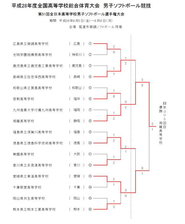 平成28年度第51回全日本高等学校男子選手権大会