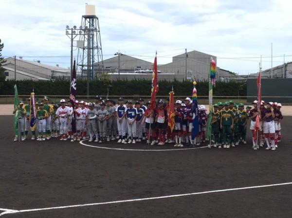 第32回北信越小学生男女大会県予選 開会式の模様1