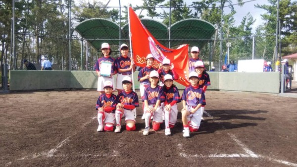 第5回金沢みどりライオンズクラブ杯小学生新人大会 第4位チーム<なかのと織姫SBC>